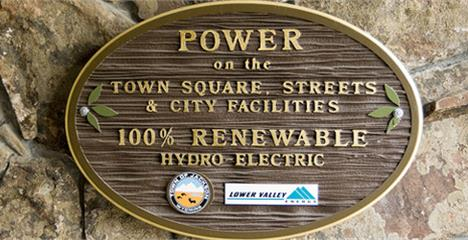 Power on the square plaque